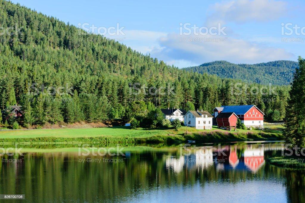 River village stock photo