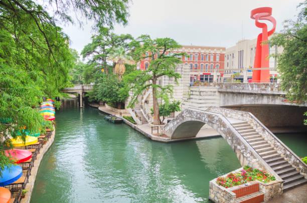 River walk in San Antonio stock photo
