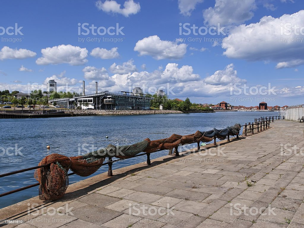 River Wear from the Fish Quay stock photo