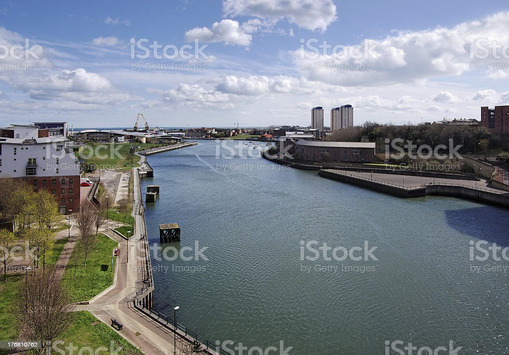 River Wear in Sunderland stock photo