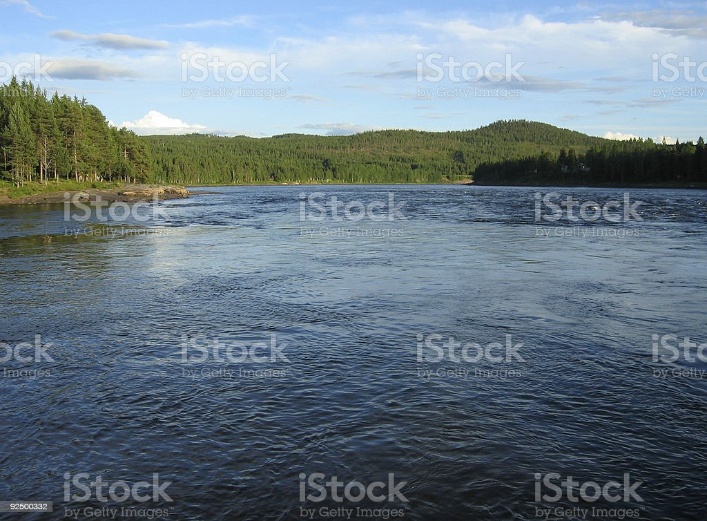 River wide royalty-free stock photo