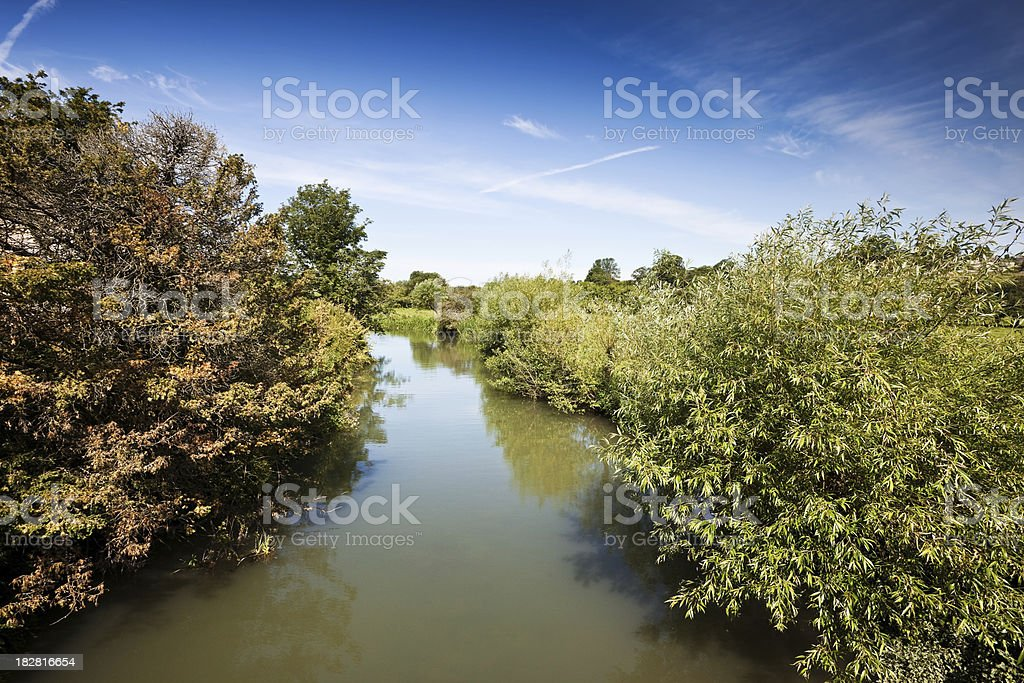 River Windrush at Burford in Oxfrodshire stock photo