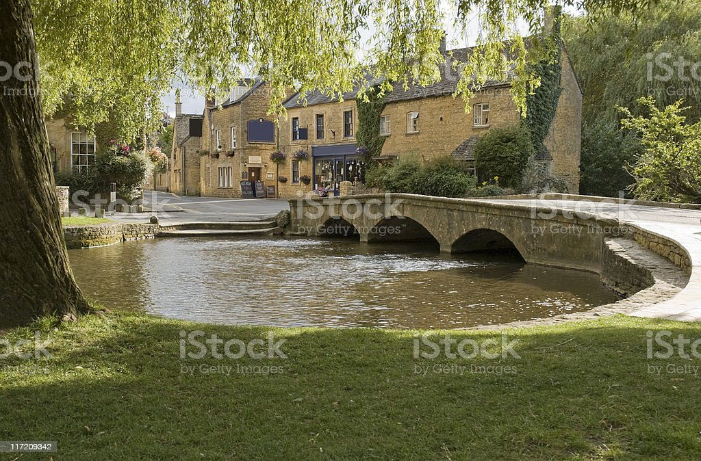 River windrush cotswolds uk stock photo