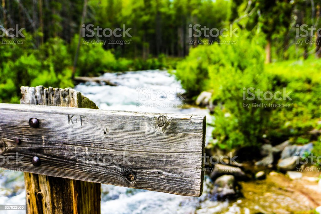 River with barrier stock photo