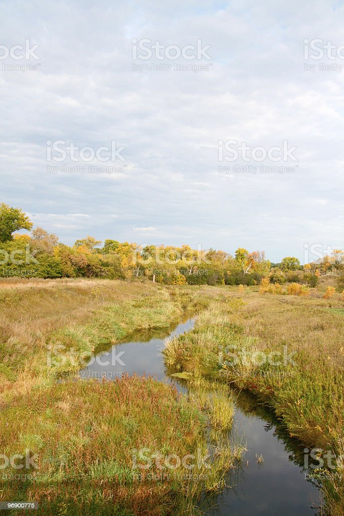 River with fall colors. royalty-free stock photo