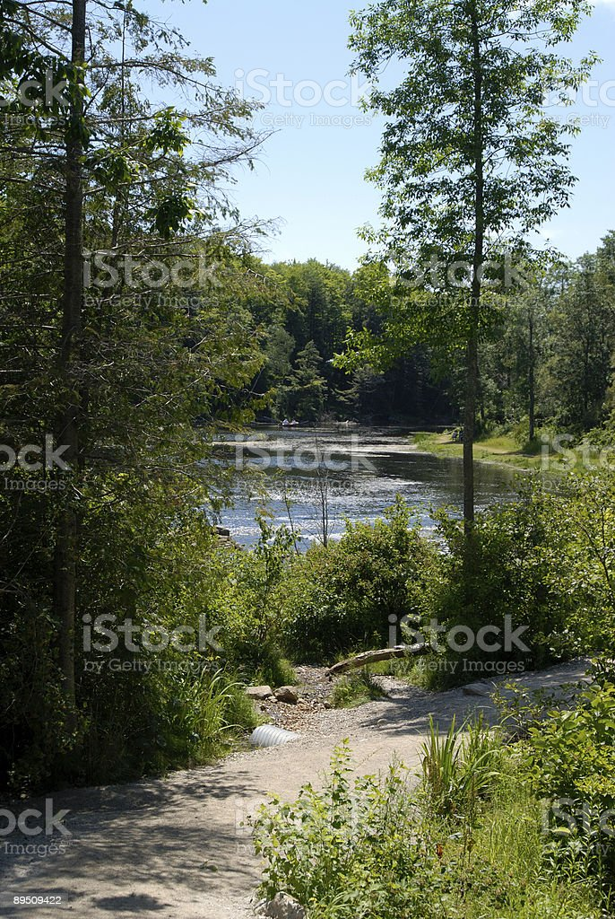 river with sandy path along side royalty-free stock photo