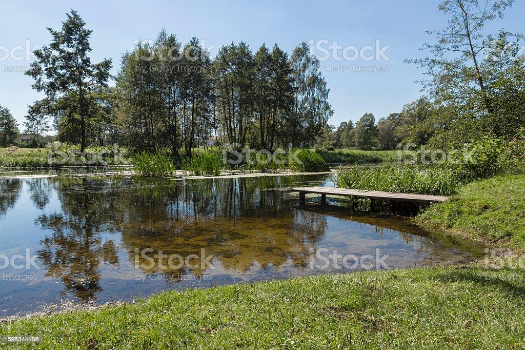 River Wkra, Poland Lizenzfreies stock-foto