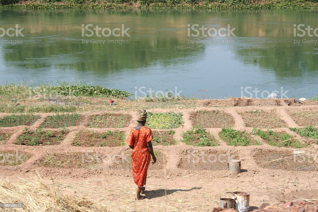 River woman stock photo