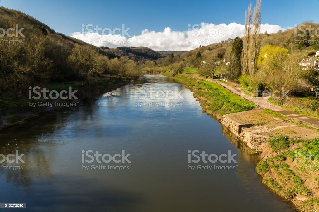 River Wye and old quay stock photo