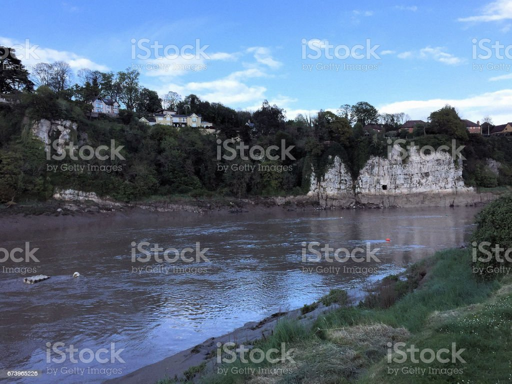 River Wye at Chepstow royalty-free stock photo