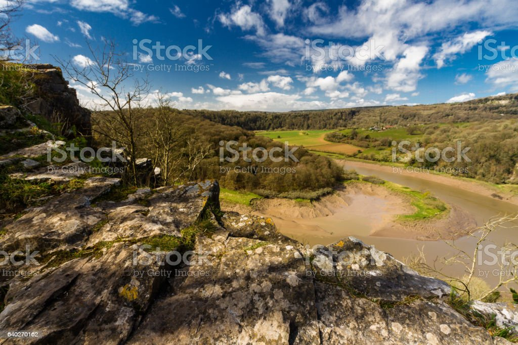 River Wye at Wintours Leap. stock photo