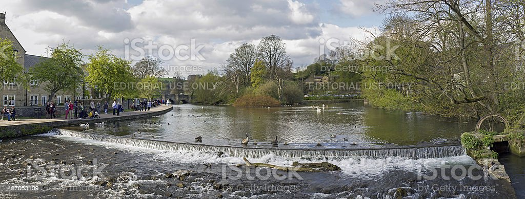 River Wye Bakewell Derbyshire stock photo