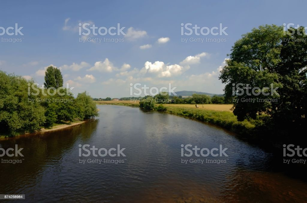 River wye England wales border stock photo