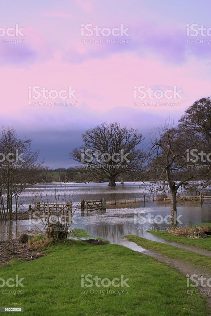 river wye flooded royalty-free stock photo