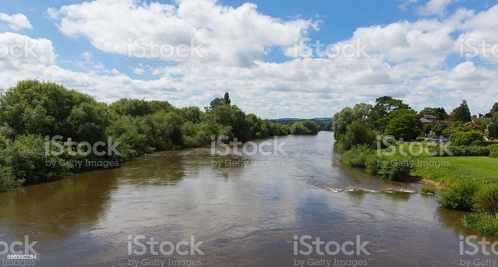 River Wye Ross-on-Wye Herefordshire England uk stock photo