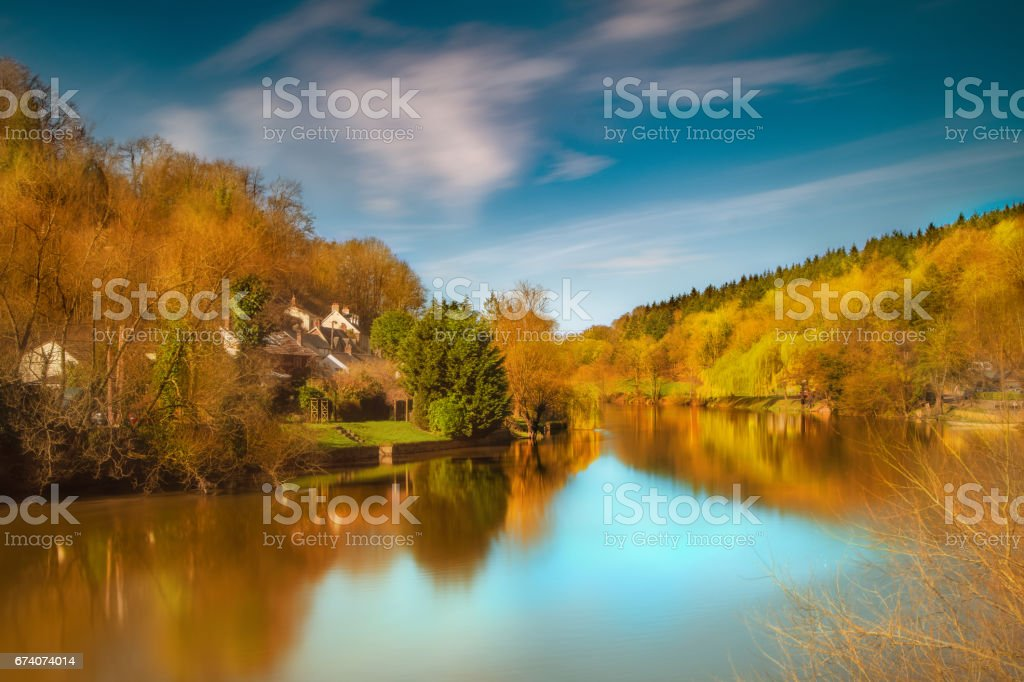 River Wye, Symonds Yat stock photo