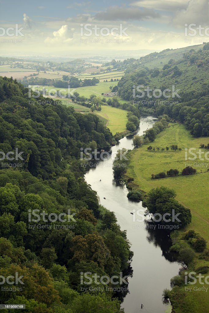 River Wye valley stock photo