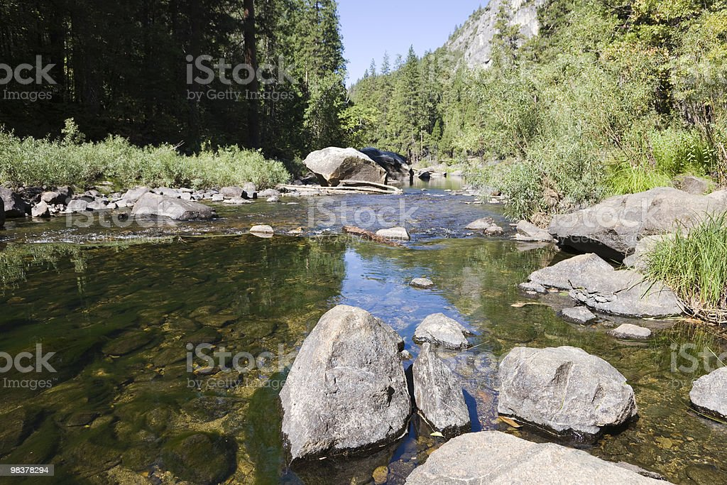 River Yosemite National Park royalty-free stock photo