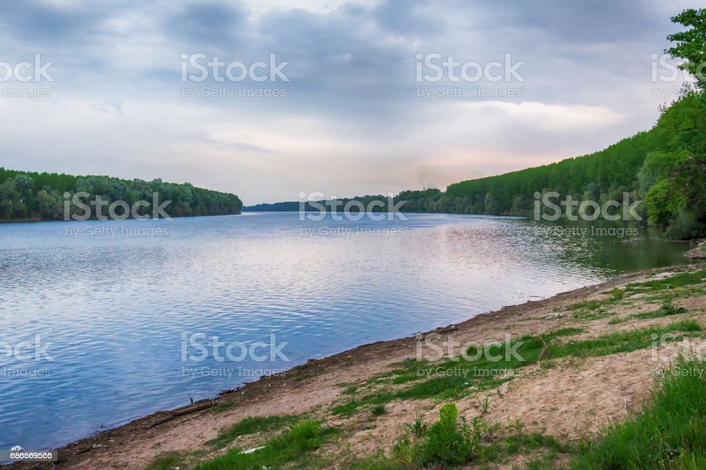 Riverbank royalty-free stock photo