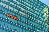 August 21, 2019 San Francisco / CA / USA - Riverbed headquarters in SoMa district; Riverbed Technology, Inc. is an American information technology company