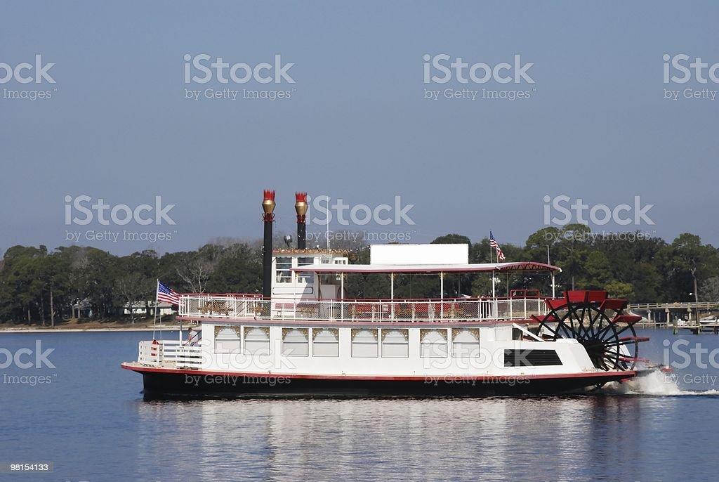 Riverboat in 세인트 앤드루스 베이에서의 플로리다 royalty-free 스톡 사진
