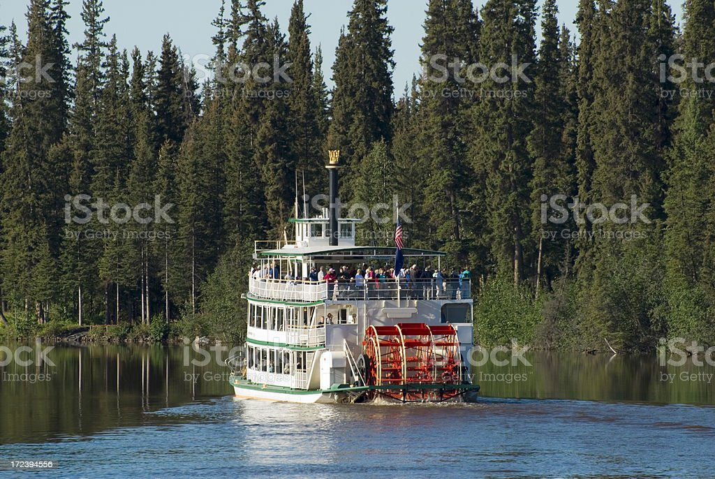 Riverboat On Beautiful River royalty-free stock photo