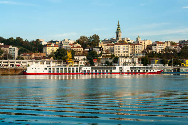 Riverboat on the Danube  river, Belgrade, Serbia Riverboat on the Danube  river, Belgrade, Serbia belgrade serbia stock pictures, royalty-free photos & images