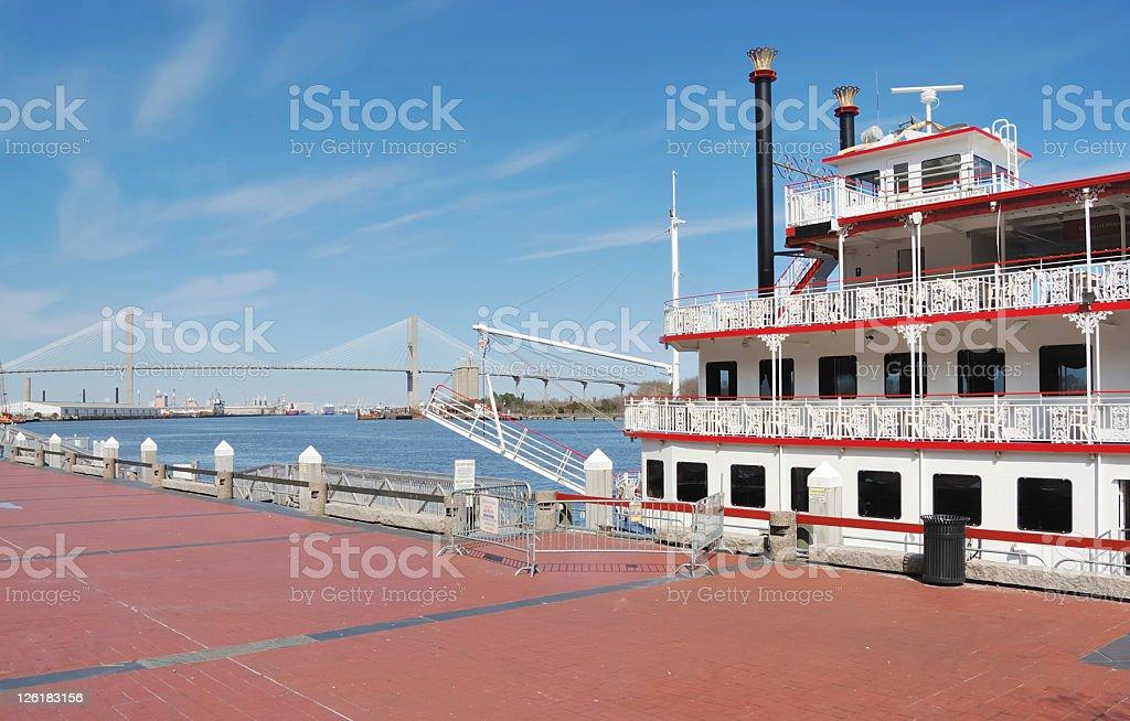 Riverboat, Savannah stock photo