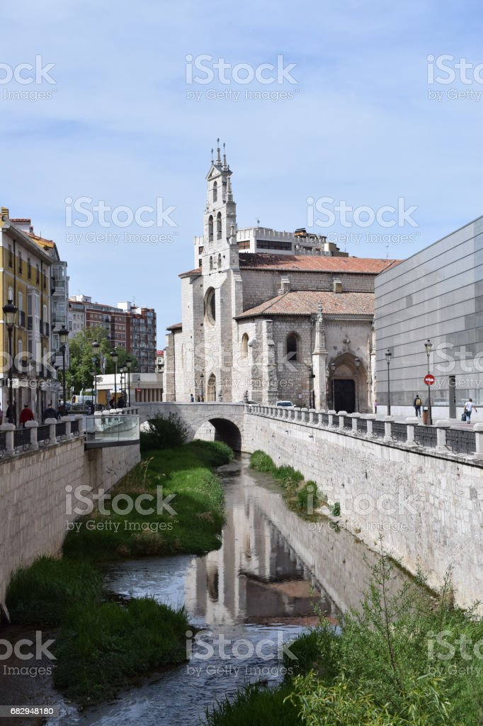 Rivers crossing historic center. royalty-free stock photo