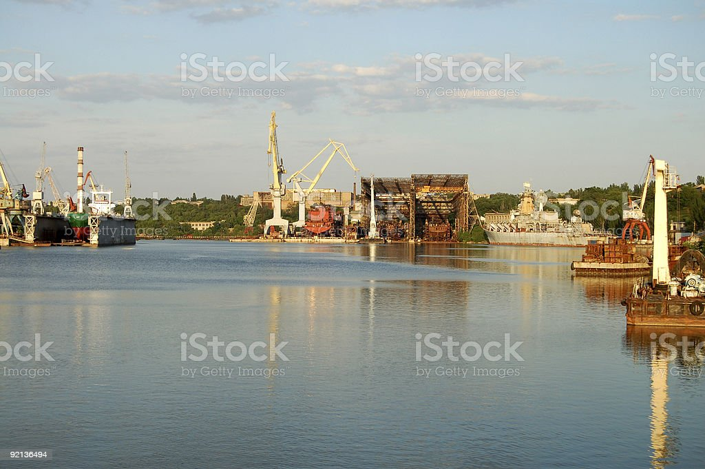 rivers dock royalty-free stock photo