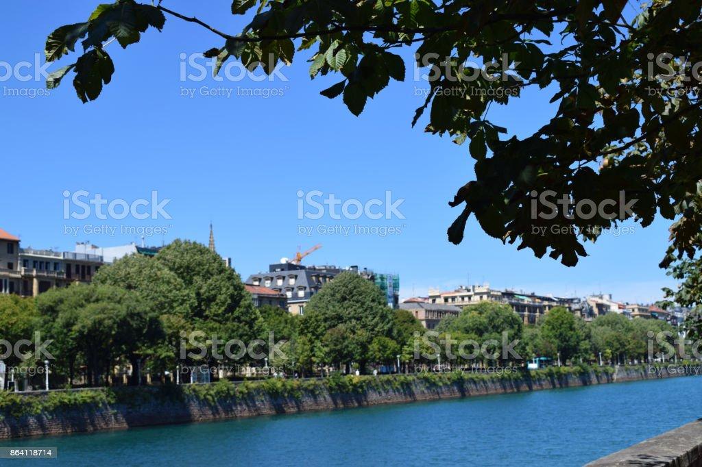 Rivers that cross coastal cities. royalty-free stock photo