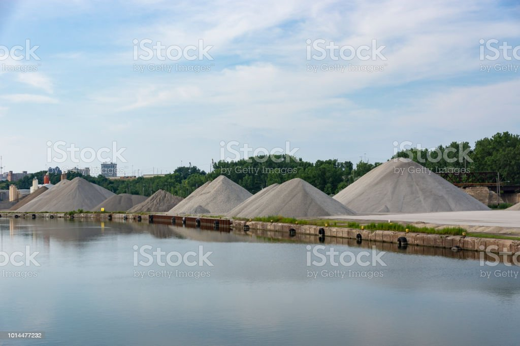 Riverside Aggregates stock photo