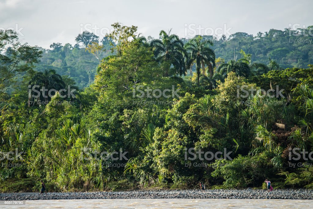 Riverside Amazone stock photo