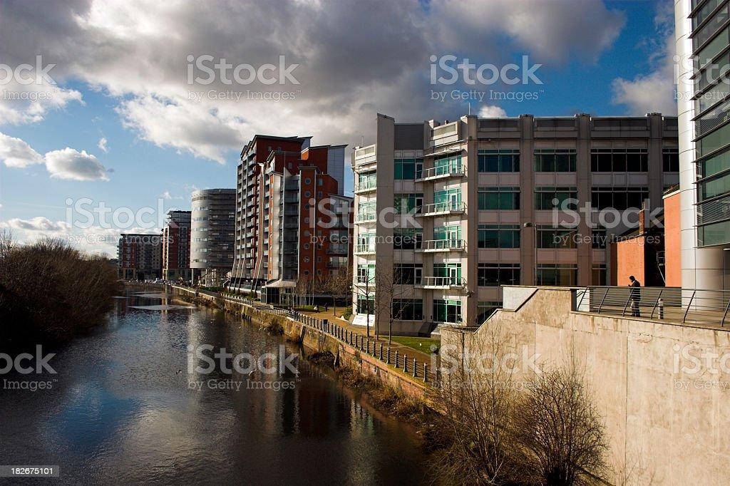 Riverside apartments royalty-free stock photo