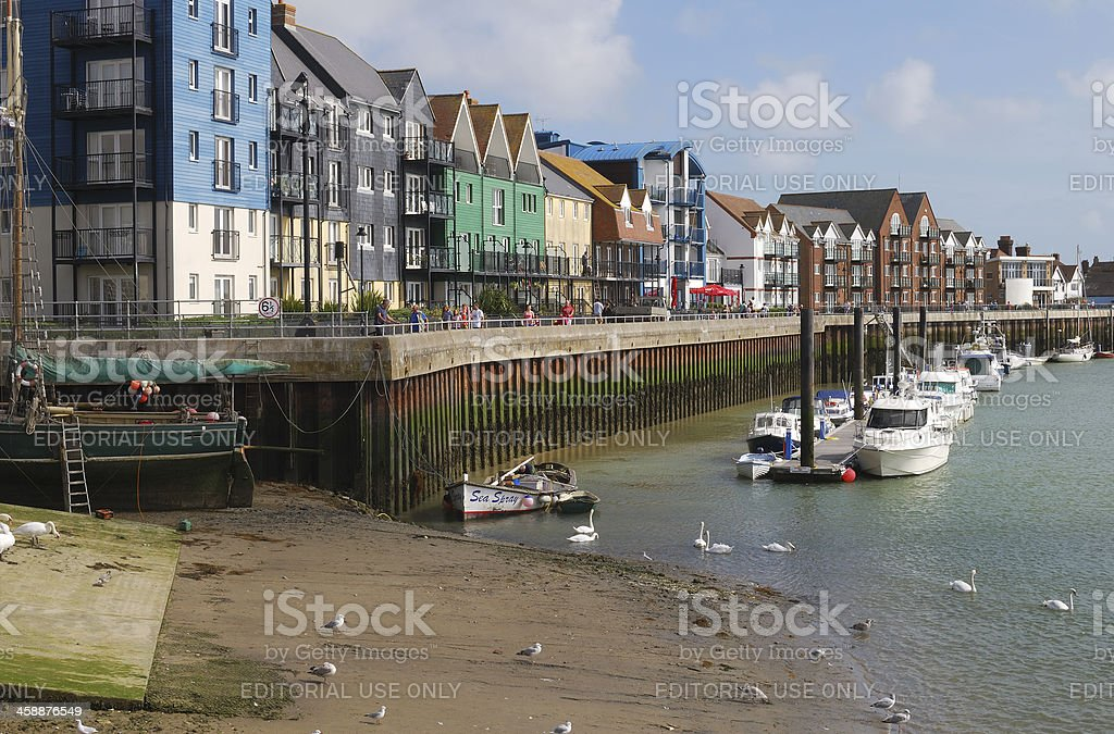 Riverside at Littlehampton. Sussex. England royalty-free stock photo