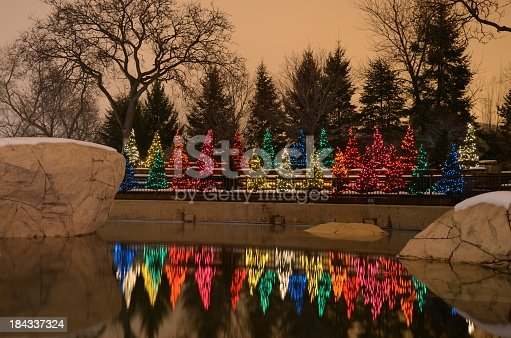 Christmas decoration at Lincoln Park Zoo in Chicago.