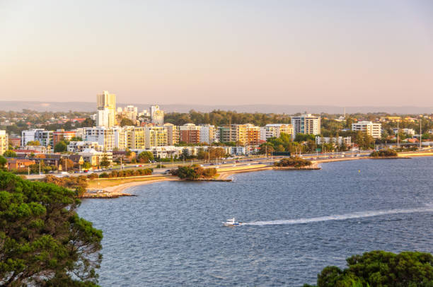 Riverside Drive - Perth stock photo
