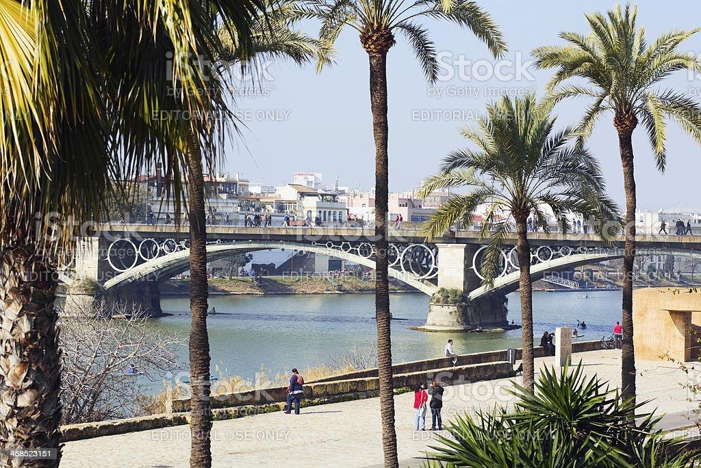 Riverside in Sevilla royalty-free stock photo