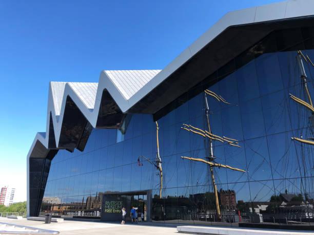 Riverside Museum Glasgow stock photo