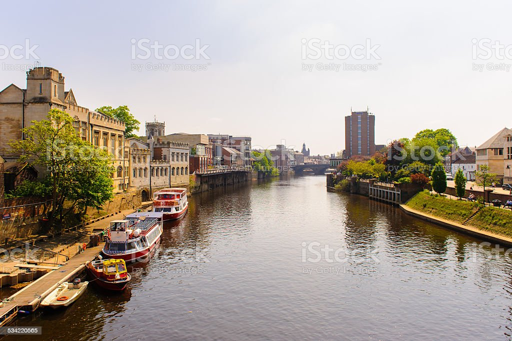 riverside of york stock photo