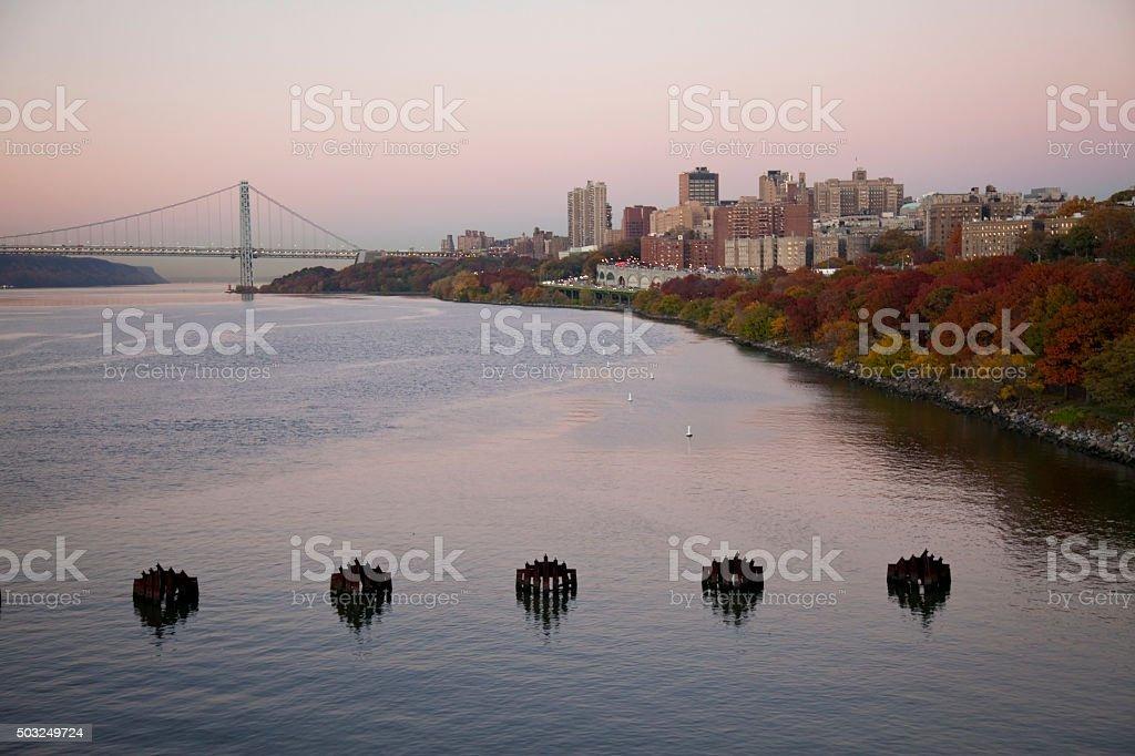 Riverside Park landscape stock photo