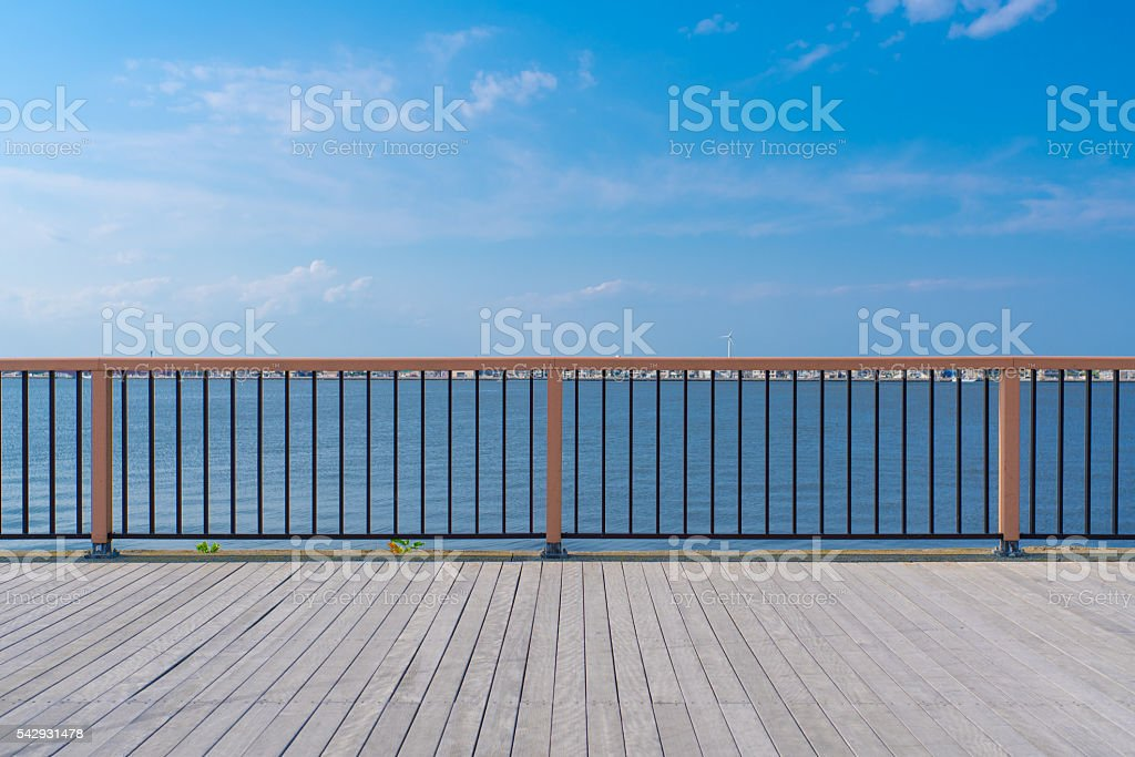 Riverside park stock photo