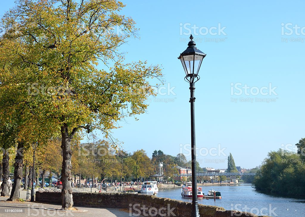 Riverside Path by River Dee in Chester royalty-free stock photo