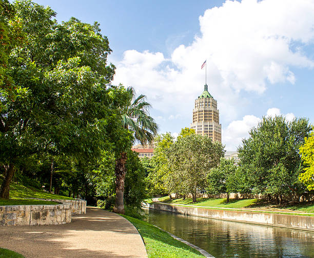 Riverwalk Downtown San Antonio stock photo