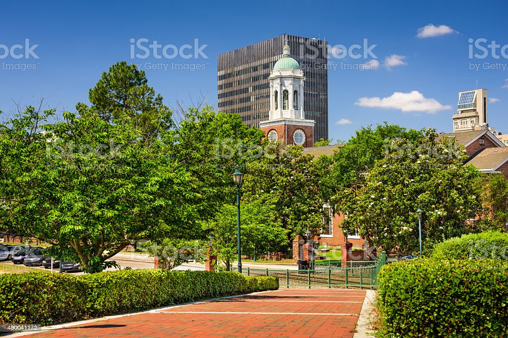 Riverwalk in Augusta Georgia stock photo