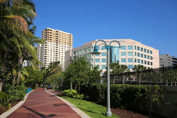 Riverwalk in Fort Lauderdale stock photo