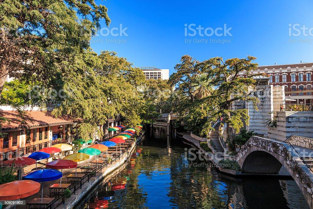 Riverwalk  in San Antonio stock photo