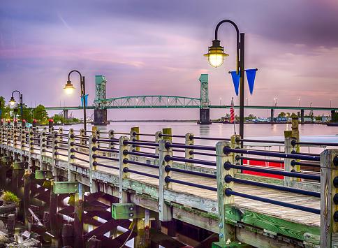 Riverwalk In Wilmington North Carolina Stock Photo