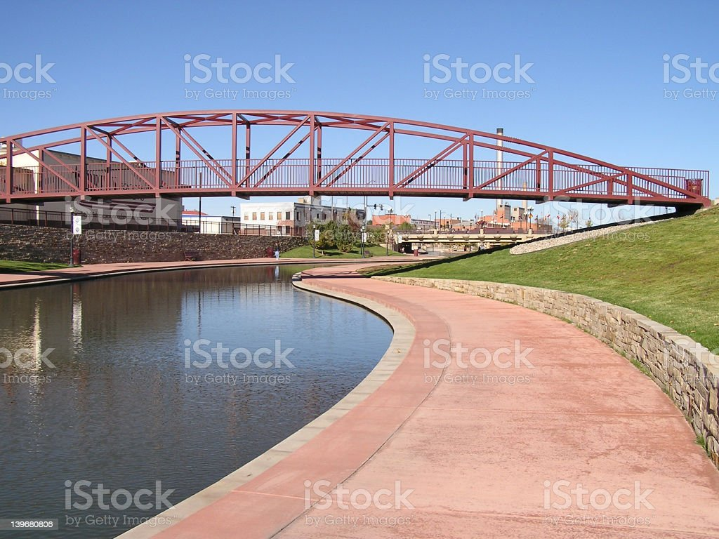 RiverWalk stock photo