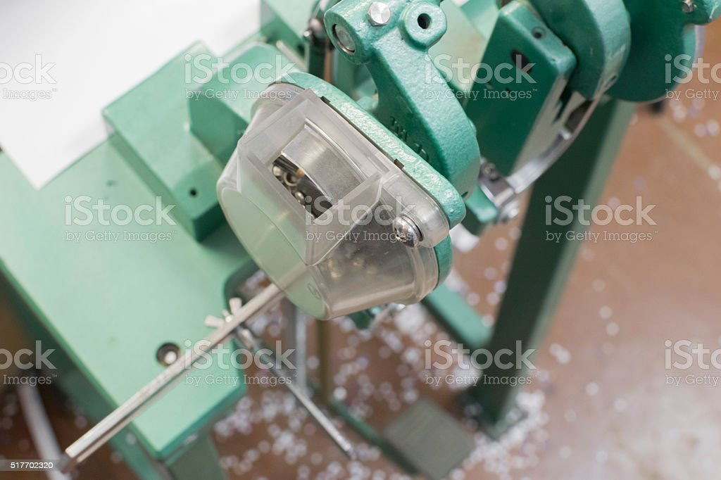 rivet or clench mashine for postprinting stock photo